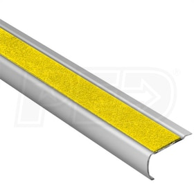 "Schluter TREP-GK-S - Stair Nosing Profile - 8' 2-1/2"" Length - Yellow"