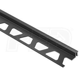 "Schluter DILEX-BWA - Perimiter Joint Profile - For 3/8"" Thick Tile - 8' 2-1/2"" Length - Black PVC"