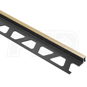 "Schluter DILEX-BWA - Perimiter Joint Profile - For 1/2"" Thick Tile - 8' 2-1/2"" Length - Light Beige PVC"
