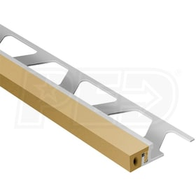 "Schluter DILEX-KSA - Perimiter Joint Profile - For 5/16"" Thick Tile - 8' 2-1/2"" Length - Aluminum with Light Beige"