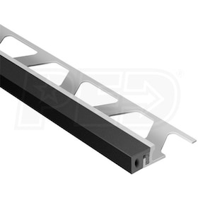 "Schluter DILEX-KSA - Perimiter Joint Profile - For 1/2"" Thick Tile - 8' 2-1/2"" Length - Aluminum with Black"