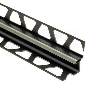 "Schluter DILEX-EKE - Movement Joint Profile - For 33/64"" Floor and 1/2"" Wall Tile - 8' 2-1/2"" Length - Grey PVC"