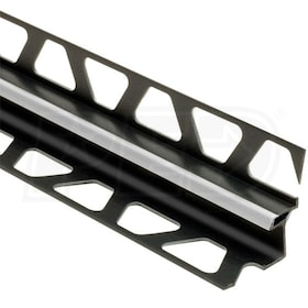"Schluter DILEX-EKE - Movement Joint Profile - For 33/64"" Floor and 1/2"" Wall Tile - 8' 2-1/2"" Length - Classic Grey PVC"