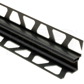 "Schluter DILEX-EKE - Movement Joint Profile - For 9/16"" Floor and 17/32"" Wall Tile - 8' 2-1/2"" Length - Black PVC"