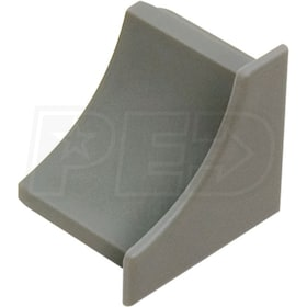 Schluter DILEX-HKW - End Cap - For  Floor and  Wall Tile - Grey PVC