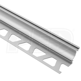 "Schluter DILEX-AHK - Cove Shaped Profile - For 1/2"" Floor and 1/2"" Wall Tile - 8' 2-1/2"" Length - Satin Anodized Aluminum"