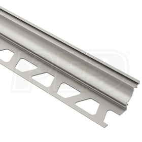 "Schluter DILEX-AHK - Cove Shaped Profile - For 3/8"" Floor and 3/8"" Wall Tile - 8' 2-1/2"" Length - Satin Nickel Anodized Aluminum"