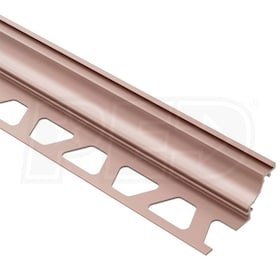 "Schluter DILEX-AHK - Cove Shaped Profile - For 5/16"" Floor and 5/16"" Wall Tile - 8' 2-1/2"" Length - Satin Copper Anodized Aluminum"