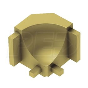 Schluter DILEX-AHK - 90 Degree Inside Corner - Satin Brass Anodized Aluminum