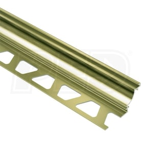 "Schluter DILEX-AHK - Cove Shaped Profile - For 3/8"" Floor and 3/8"" Wall Tile - 8' 2-1/2"" Length - Brushed Brass Anodized Aluminum"