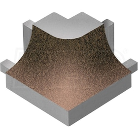 Schluter DILEX-AHK - 90 Degree Outside Corner - Tuscan Bronze Coated Aluminum