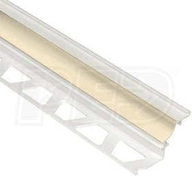 "Schluter DILEX-PHK - Cove Shaped Profile - For 5/16"" Floor and 5/16"" Wall Tile - 8' 2-1/2"" Length - Sand Pebble PVC"