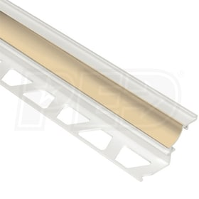 "Schluter DILEX-PHK - Cove Shaped Profile - For 3/8"" Floor and 3/8"" Wall Tile - 8' 2-1/2"" Length - Bahama PVC"