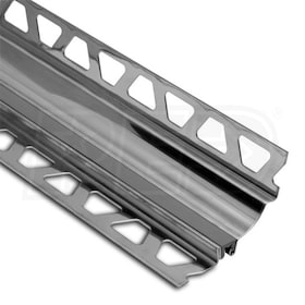 "Schluter DILEX-HKS - Cove Shaped Profile - For 5/16"" Floor and 7/16"" Wall Tile - 8' 2-1/2"" Length - Grey Stainless Steel"