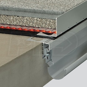 "Schluter BARA-RWL - Balcony Edging Profile - 1-9/16"" Height - 8' 2-1/2"" Length - Classic Grey Coated Aluminum"
