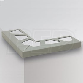 "Schluter BARA-RW - 90 Degree Outside Corner for Balcony Perimiter Profiles - 4-3/4"" Height - Bright White Coated Aluminum"