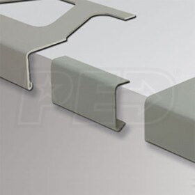 "Schluter BARA-RW - Connector for Balcony Edging Profiles for Balcony Perimiter Profiles - 4-3/4"" Height - Metallic Grey Coated Aluminum"