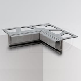 "Schluter BARA-RTK - 90 Degree Inside Corner for Balcony Edging Profiles - 2-1/2"" Height - Black Brown Coated Aluminum"