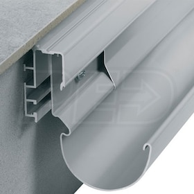 "Schluter BARA-RTP - Balcony Edging Profile - 2-5/8"" Height - 8' 2-1/2"" Length - Classic Grey Coated Aluminum"