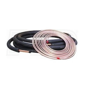 "Kamco EZ-Roll - 15' Length - Central Air Conditioner Line Set - 3/8"" x 5/8"" Plain Connections - 3/8"" Insulation"