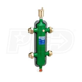 "Caleffi Series 548 Hydronic Separator, 1 1/2"" Sweat Union Connections, pre-formed insulation"