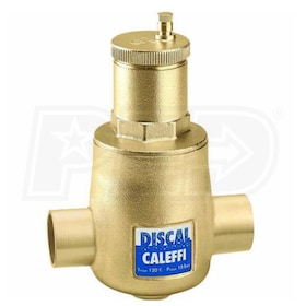 "Caleffi Discal Air Separator with 1/2"" FNPT Bottom Thread, 1-1/2"" Sweat Connections"