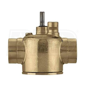 "Caleffi Z-One 3-Way Diverting Sweat Valve Body, 1-1/4"" Connections, 20 PSI, 7.5 Cv"