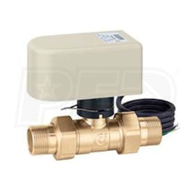 "Caleffi 2-Way Straight Motorized Ball Zone Valve, 1/2"" Sweat Connections, 13 Cv"