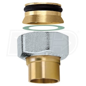 "Caleffi 1/2"" Sweat Connection Fitting, chrome plated nut"