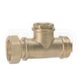 "Caleffi 1"" M x 1"" F Union x 1/2"" FNPT Brass Tee Fitting"