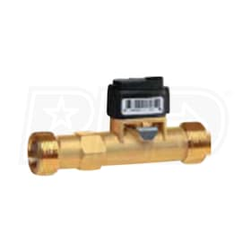 "Caleffi VFS 1-12, 3 GPM Flow & Temperature In-line Body Sensor for Solar Stations, 1"" Male Union Connections"