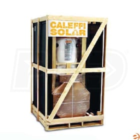 Caleffi 80 Gal Complete Solar Water Heating System, Dual Coil, Two 4' x 8' Collectors, 0.8 Solar Fraction