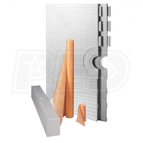 "Schluter KERDI-SHOWER-KIT - 72"" x 72"" Tray - Shower Kit - Center Drain Placement - Less Drain"