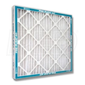 Flanders Pre Pleat 40 LPD - 18'' x 25'' x 1'' - Standard Capacity Pleated Filters - MERV 8 - Qty. 12