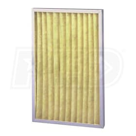 Flanders Pre Pleat HT - 20'' x 25'' x 2'' - Standard Capacity High Temperature Pleated Filters - MERV 8 - Qty. 12