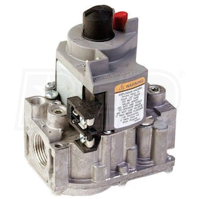 "Honeywell Continuous Pilot Dual Automatic Valve Combination Gas Control, NG or LP, Standard Opening - 3/4"" In x 3/4"" Out"
