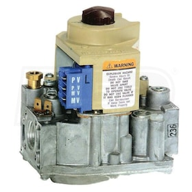 "Honeywell Intermittent Pilot Combination Gas Control, NG or LP, Standard Opening - 1/2"" In x 1/2"" Out"