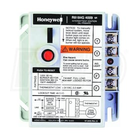 Honeywell Protectorelay Oil Burner Control, 45 Seconds Lock Out Timing, With Remote Alarm Power