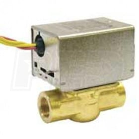 "Honeywell Motorized Low Voltage Normally Closed Zone Valve, 1"" Pipe, NPT Connection"