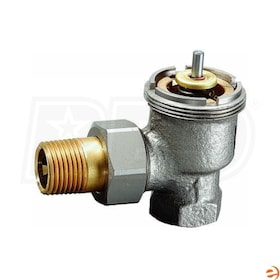 "Honeywell High Capacity Thermostatic Radiator Valve, 4.6 Cv, Angle Body, 1/2"" Sweat, 127,000 BTU"