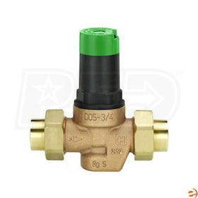 "Honeywell DialSet Pressure Regulating Valve, Double-union threaded, 1 1/4"" FNPT Connection"