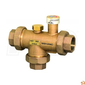 "Honeywell Large Flow Proportional Mixing or Diverting Valve, 110F-150F Temperature Range, 1 1/2"" NPT Connection, 13.5 Cv"