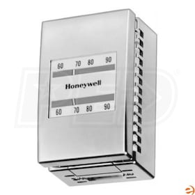 Honeywell Pneumatic Heating/Cooling Thermostat, 2 Pipes, Direct Heat, Reverse Cool