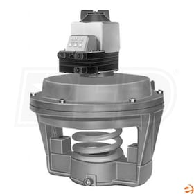 "Honeywell Pneumatic Coil Valve Actuator, High Actuator Force, 13"" Diameter, Stem Extension with 10 PSI Range Potentiometer"