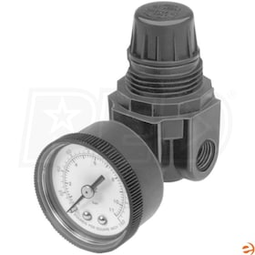 Honeywell Miniature Pressure Regulator, includes 0-60 PSI gauge, 0-60 PSI