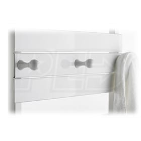 Runtal Omnipanel - Accent Panel with Robe Knobs - Chrome Knobs - Chrome Accent - 24""