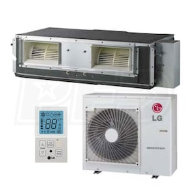 LG - 24k BTU Cooling + Heating - High-Static Concealed Duct Air Conditioning System - 17.0 SEER