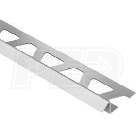 "Schluter RENO-TK - Height Transition Profile - For 7/16"" Thick Tile - 8' 2-1/2"" Length - Brushed Stainless Steel"