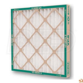 Flanders VP - 14'' x 14'' x 1'' - High Capacity Pleated Air Filters - MERV 8 - Qty. 12
