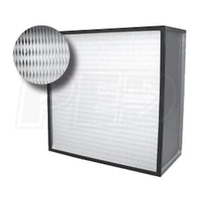 Flanders Alpha 2000 - 24'' x 12'' x 11.5'' - High Capacity HEPA Filter - Pureform Style - 99.97% Efficiency